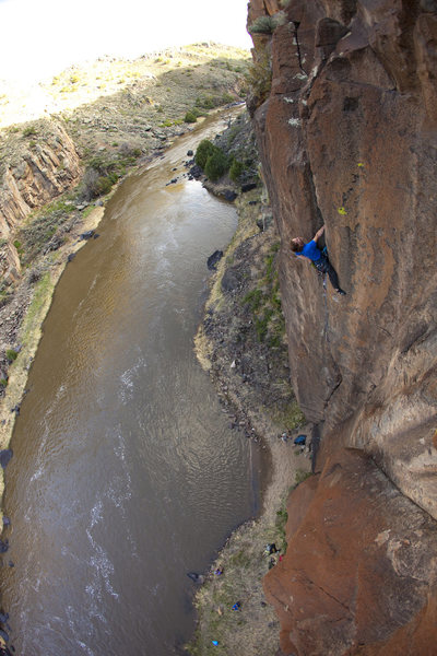 "Rock Climbing Photo: Jay on his classic jam crack ""Kid in a Candy ..."