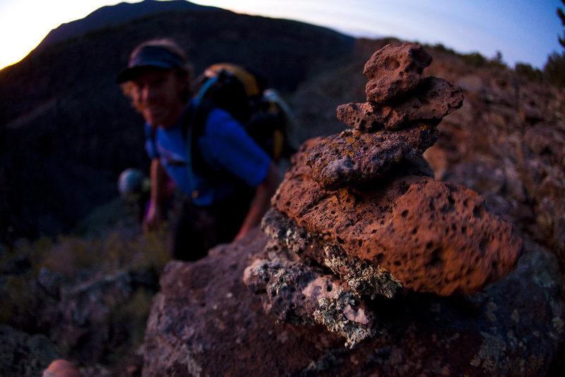 Rock Climbing Photo: Jay considering the art of cairning.  andrewburr.c...