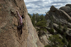 Rock Climbing Photo: Donna on Five Years After just below the cover pos...