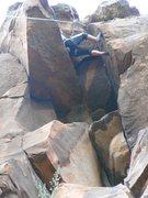 Rock Climbing Photo: up the chimney
