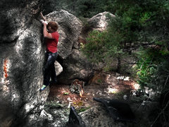 "Rock Climbing Photo: Luke Childers going ""Cross Country"" at T..."