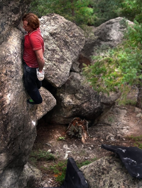 "Rock Climbing Photo: Luke Childers finding a rest stop on the ""Cro..."