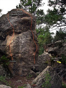 "Rock Climbing Photo: Photo beta for ""The Cross Block"" North f..."