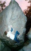 Rock Climbing Photo: Zeb, foreshortened view.