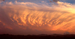 Rock Climbing Photo: Crazy clouds over Joshua Tree.  Photo by Blitzo.