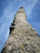 Rock Climbing Photo: Splitter day, splitter route.  Tricouni Nail, Need...