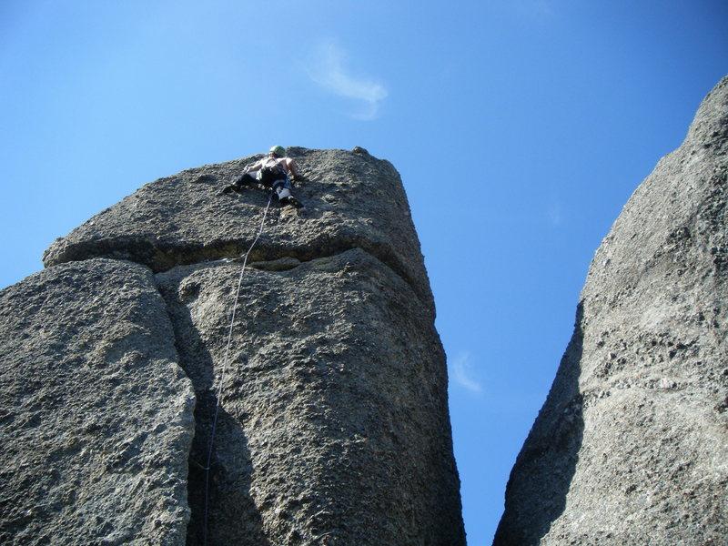 Rock Climbing Photo: Ian on the final section of Falcon.