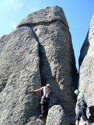 Rock Climbing Photo: Ian at the base of Falcon.