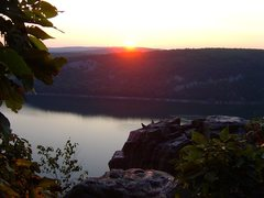 Rock Climbing Photo: Sunrise on the West Bluff.  September 09.