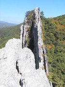 Rock Climbing Photo: The view across the top