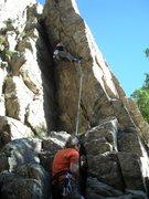 Rock Climbing Photo: mike climbing battle ship