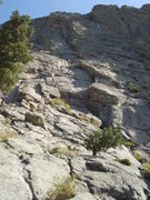 Rock Climbing Photo: The route basically follows the left-facing dihedr...
