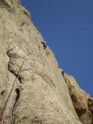 Rock Climbing Photo: P5 just left of the bush.