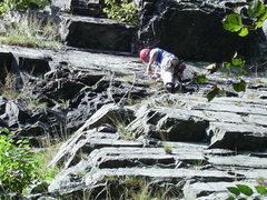 """Rock Climbing Photo: Joey on """"Dead Climber's Society"""""""