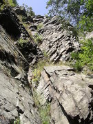 Rock Climbing Photo: Side view of 'The Rib', upper corner