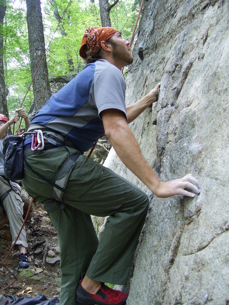 Rock Climbing Photo: Damon on 'Foreign Invasion'