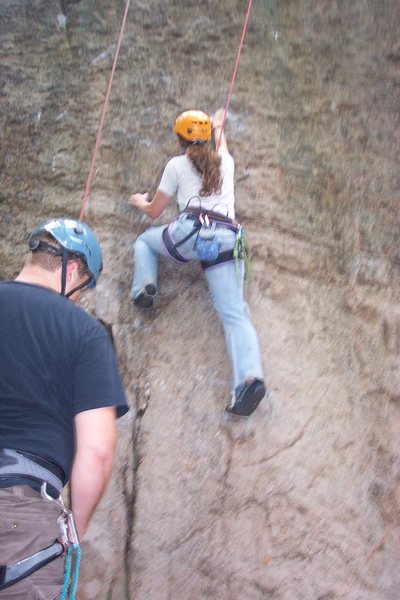 Rock Climbing Photo: Kimberly M. on 'Foreign Invasion'