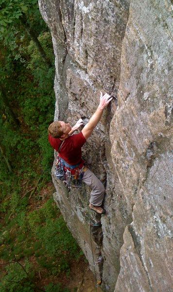 Rock Climbing Photo: Mike on Sinsophrenia, Sunset Park, TN.
