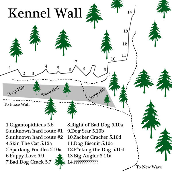 I saved this as the last map (as far as the cliffs i know and people use) because there are a few unknown routes... i was hoping to figure them out... if you have info please post it and if i get a chance i'll get the map up to date... enjoy...