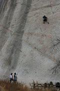Rock Climbing Photo: Roger on Wedunett. 9-13-09