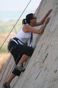 Rock Climbing Photo: Agina on lead on Pudnerdal 5.8. 9-13-09
