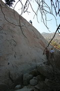Rock Climbing Photo: Al higher up on Pudnerdal. 9-13-09