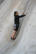 Rock Climbing Photo: Roger looking for clues on Boogaloo Direct 5.9. 9-...