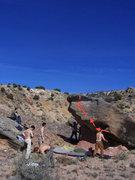 Rock Climbing Photo: High on Fungi on the mushroom boulder