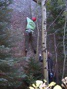 Rock Climbing Photo: The thin finger start.