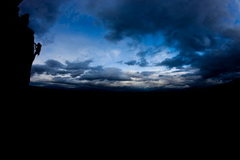 Rock Climbing Photo: RGG silhouette
