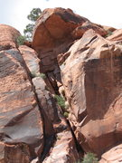 Rock Climbing Photo: The Big Red Chimney.  The last bit of technical cl...