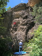 Rock Climbing Photo: Abbie, a local, with her husband and  Dad.