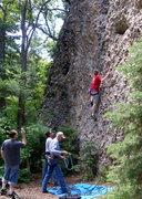 Rock Climbing Photo: Abbie learning to climb