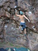 """Rock Climbing Photo: """"The Happy Birthday Dyno"""" Box Canyon"""