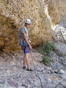 "Rock Climbing Photo: Tristan walking across ""pitch 2"" - the l..."