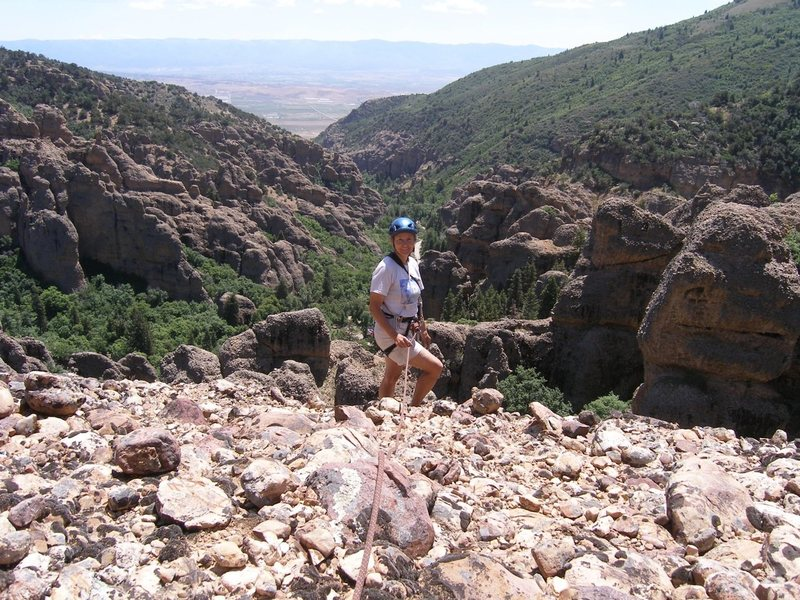 Rock Climbing Photo: Great view from the summit of Great Chasm!