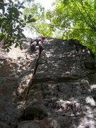 Rock Climbing Photo: Bill on the 2nd ascent of E-stim.