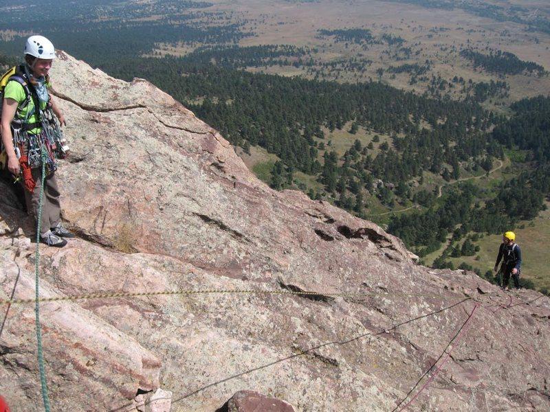 Rock Climbing Photo: Ken & Margaret at the summit.