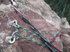 Rock Climbing Photo: SW rappel station.
