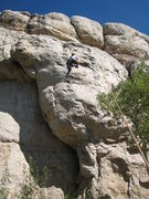 Rock Climbing Photo: The pocketed & sequential upper headwall of Tomaha...