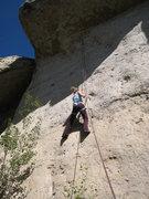 Rock Climbing Photo: Climbing the reachy 5.11 vertical section of Copen...