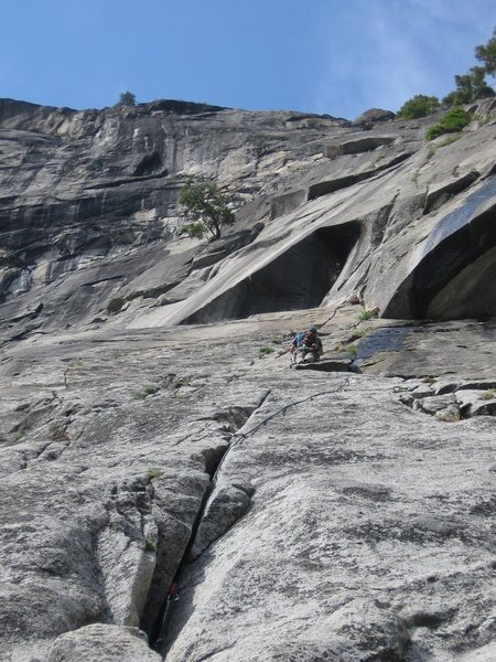 Rock Climbing Photo: P4 on Super Slide, YNP