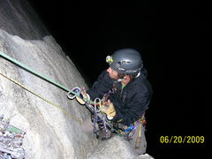 Rock Climbing Photo: Juggin'P7  on South Face, Washington Column