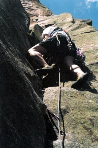 Rock Climbing Photo: Billy on an earlier ascent of The Skipper Too, bef...