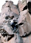 Rock Climbing Photo: Ken Sims Soloing Beastie Crack.