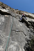 Rock Climbing Photo: Kathleen climbs Saddle-Up Cupcake, at Wheeler Gorg...