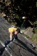 Rock Climbing Photo: Matt McCormick in the low crux of Zabba.