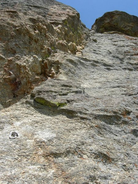 Rock Climbing Photo: The 5.8+ pitch