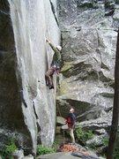 Rock Climbing Photo: Ship Rock:  Harpoon 5.10a