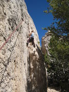 Rock Climbing Photo: Finishing up the dihedral section.